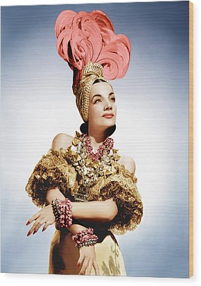 That Night In Rio, Carmen Miranda, 1941 Wood Print by Everett
