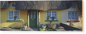 Thatched Cottage, Adare, Co Limerick Wood Print by The Irish Image Collection