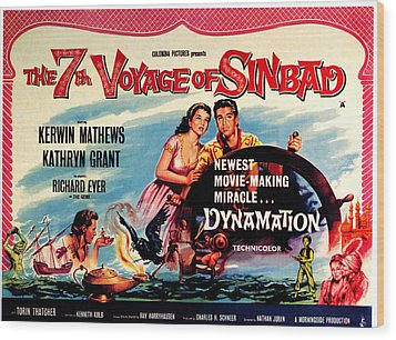 The 7th Voyage Of Sinbad, Aka The Wood Print by Everett