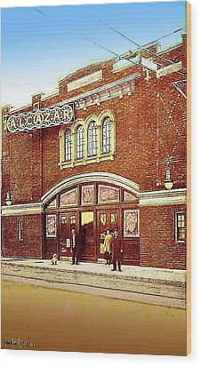 The Alcazar Theatre In Naugatuck Ct 1913 Wood Print