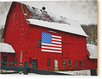 The American Dream Wood Print by Bill Cannon