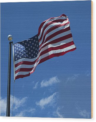 The American Flag Wood Print by Gregory Scott