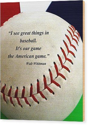 The American Game Wood Print by Christopher Kerby