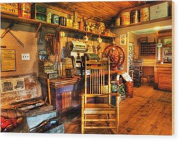 The American General Store -  - Vintage - Nostalgia Wood Print by Lee Dos Santos