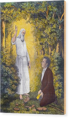The Angel Moroni Delivering The Plates Wood Print by Everett