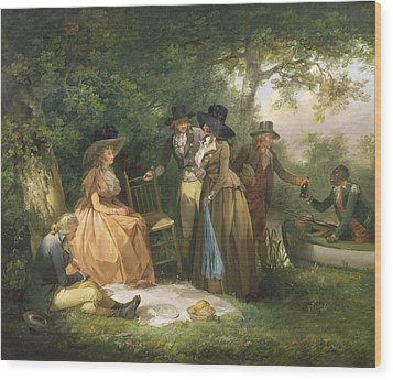 The Angler's Repast  Wood Print by George Morland