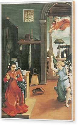 The Annunciation Wood Print by Lorenzo Lotto