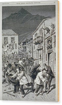 The Anti-chinese Riot In Denver Wood Print by Everett