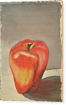 Wood Print featuring the painting The Apple Of by Teresa Beyer