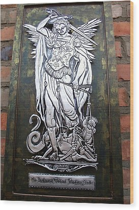 The Archangel Michael Weighing Souls Wood Print by Cacaio Tavares