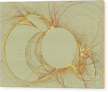 Wood Print featuring the digital art The Arcs by Kim Sy Ok