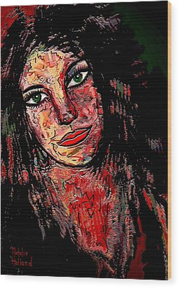 The Artist Wood Print by Natalie Holland
