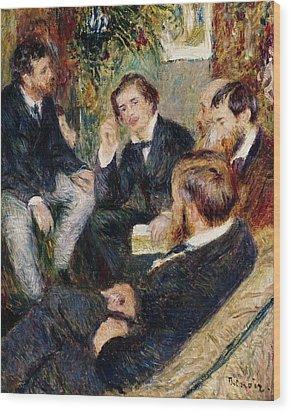 The Artist's Studio Rue Saint Georges Wood Print by Pierre Auguste Renoir