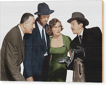 The Asphalt Jungle, From Left Louis Wood Print by Everett