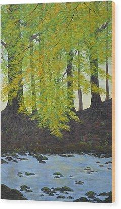 The Autumn Glen Wood Print