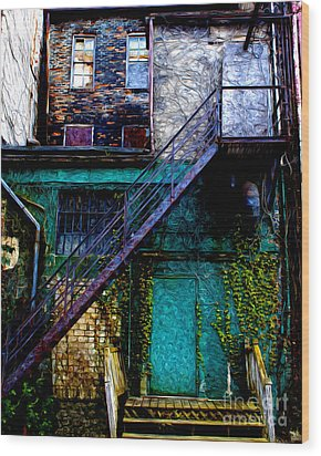The Back Door Wood Print by Anne Raczkowski