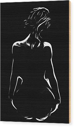 The Backside Of Life Wood Print by Steve K