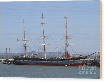 The Balclutha . A 1886 Square Rigged Cargo Ship At The Hyde Street Pier In Sf California . 7d14069 Wood Print by Wingsdomain Art and Photography