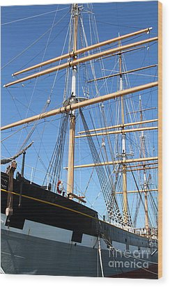 The Balclutha . A 1886 Square Rigged Cargo Ship At The Hyde Street Pier In Sf California . 7d14135 Wood Print by Wingsdomain Art and Photography