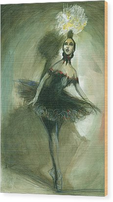 The Ballerina Wood Print by Gregory DeGroat