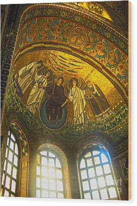 The Basilica Di San Vitale In Ravenna - 02 Wood Print by Gregory Dyer