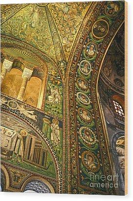 The Basilica Di San Vitale In Ravenna - 03 Wood Print by Gregory Dyer