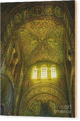 The Basilica Di San Vitale In Ravenna Wood Print by Gregory Dyer