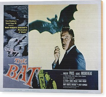 The Bat, Vincent Price, 1959 Wood Print by Everett