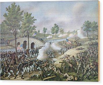 The Battle Of Antietam, September 17 Wood Print by Everett