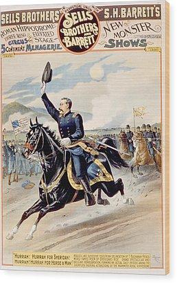 The Battle Of Cedar Creek Wood Print by Everett