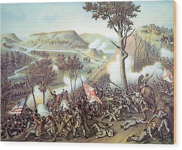 The Battle Of Missionary Ridge Wood Print by Everett