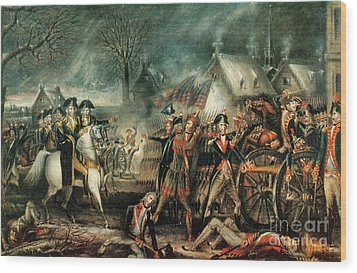 The Battle Of Trenton 1776 Wood Print by Photo Researchers