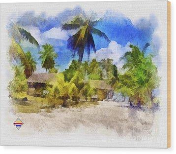 The Beach 01 Wood Print by Vidka Art