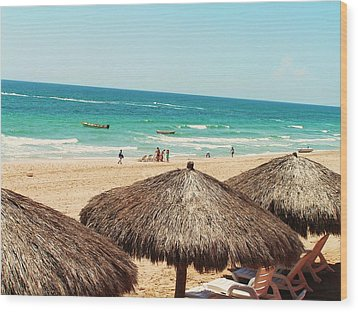 Wood Print featuring the photograph The Beach At Puerto Pensasco by Rand Swift