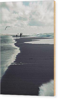 The Beach Wood Print by Joana Kruse