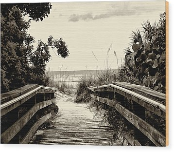 The Beach Path - Clearwater Beach Wood Print by Bill Cannon