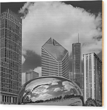 The Bean Chicago Illinois Wood Print