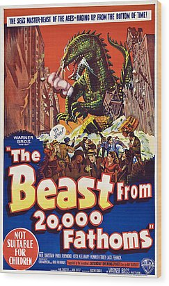 The Beast From 20,000 Fathoms Wood Print by Everett