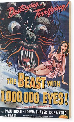 The Beast With A Million Eyes, 1955 Wood Print by Everett