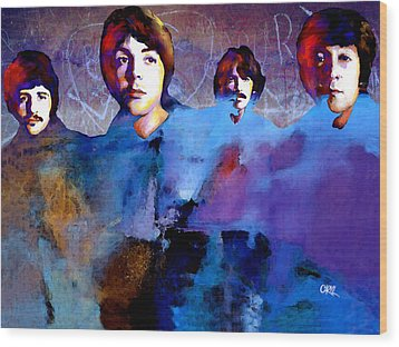 The Beatles Wood Print by Carvil