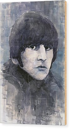 The Beatles Ringo Starr Wood Print by Yuriy  Shevchuk