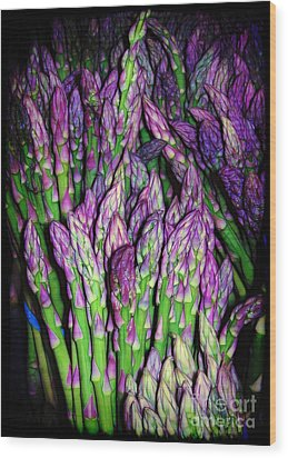 The Beauty Of Asparagus Wood Print by Judi Bagwell