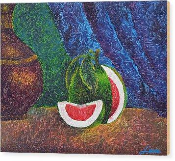 The Beauty Within Series--juicy Grapefruit Wood Print by Luxo N P