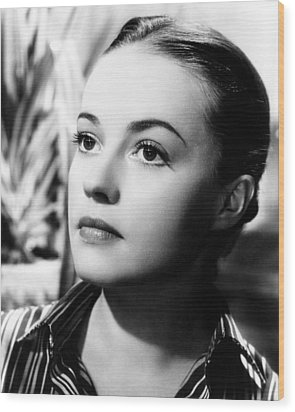 The Bed, Jeanne Moreau, 1954 Wood Print by Everett