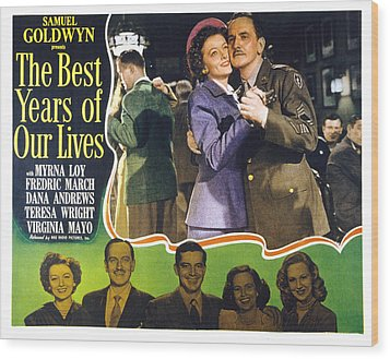 The Best Years Of Our Lives, Myrna Loy Wood Print by Everett