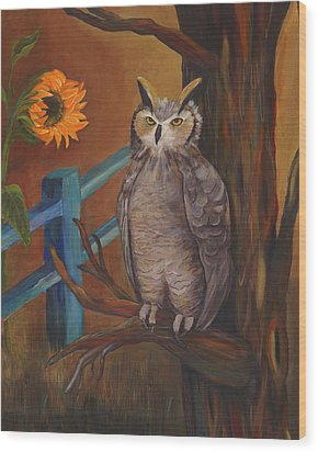 The Better Life- Owl Wood Print by Debbie McCulley