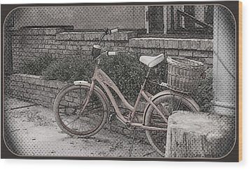 the Bicycle is waiting Wood Print