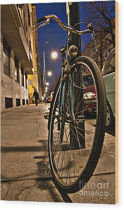 The Bicycle Wood Print by Sonny Marcyan