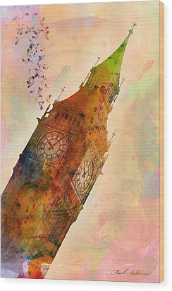 The Big Ben Wood Print by Mark Ashkenazi
