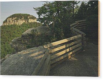 The Big Pinnacle Of Pilot Mountain. The Wood Print by Raymond Gehman